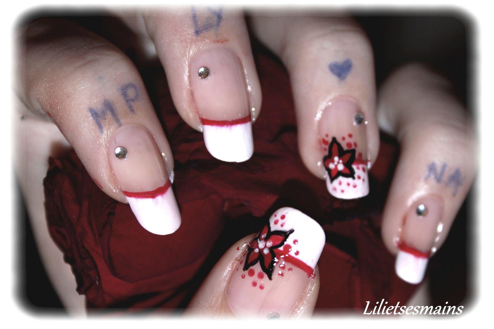 Fleurs rouges pour un mariage...