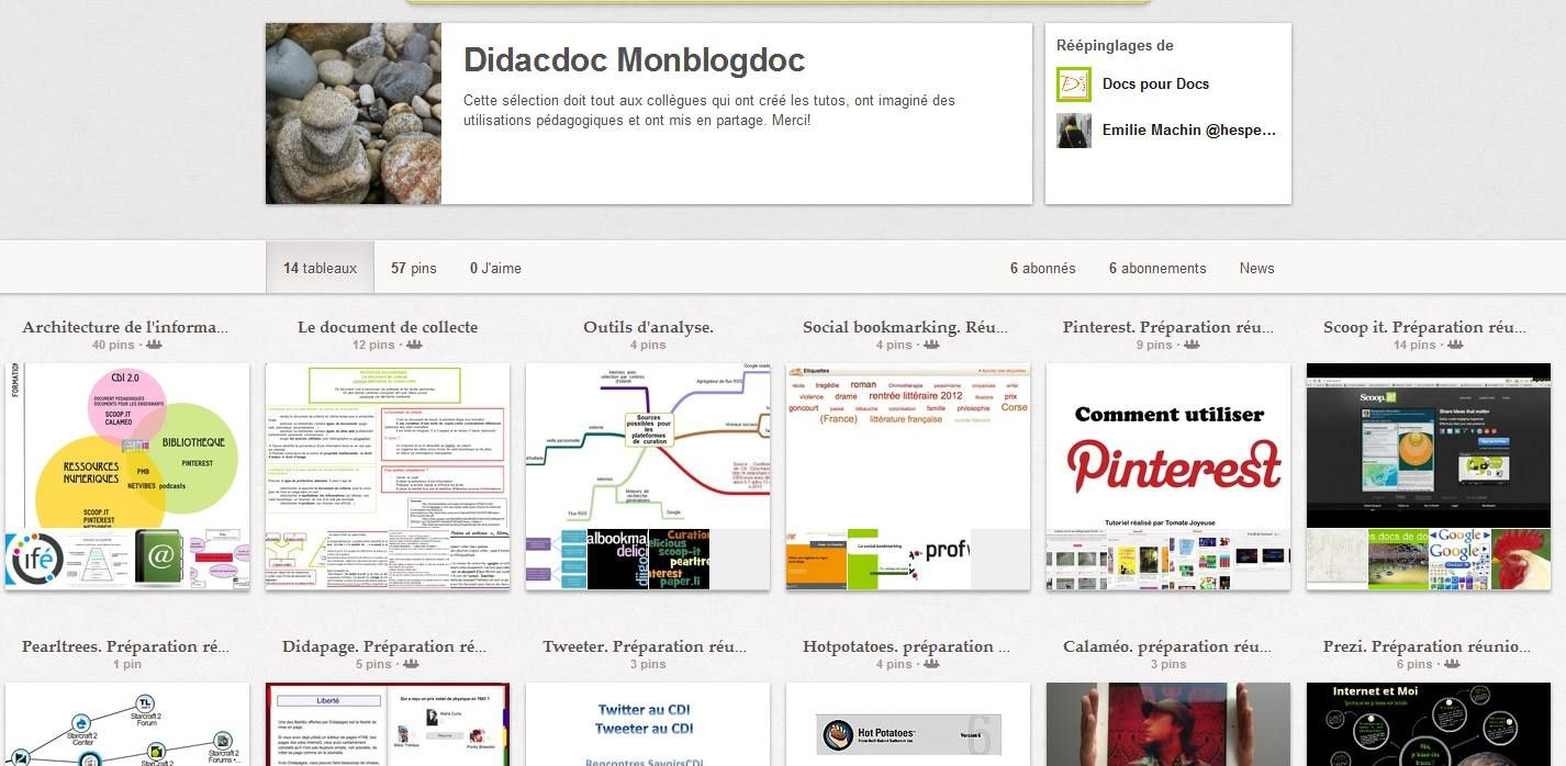 Pinterest - Didacdoc Monblogdoc : une &quot&#x3B;collection&quot&#x3B; collaborative!