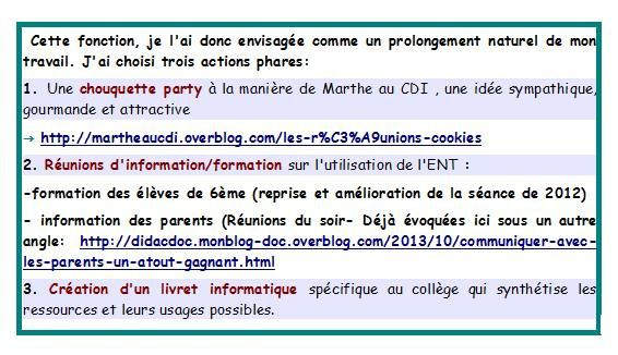 Trois actions phares
