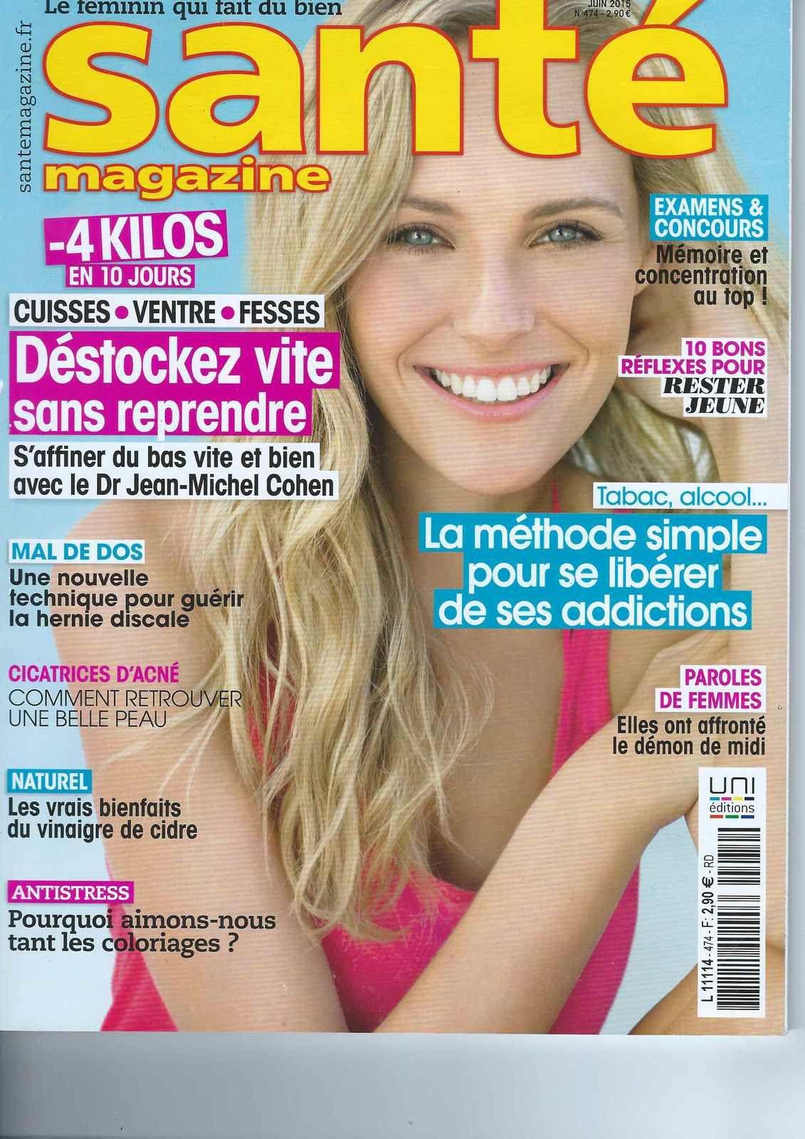 Vinaigre de cidre - Article dans Santé Magazine