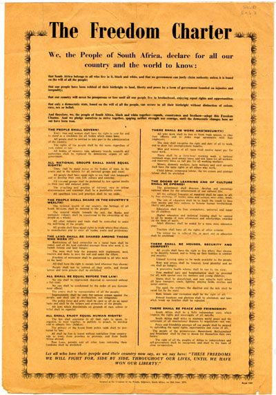 Here is the Freedom Charter...