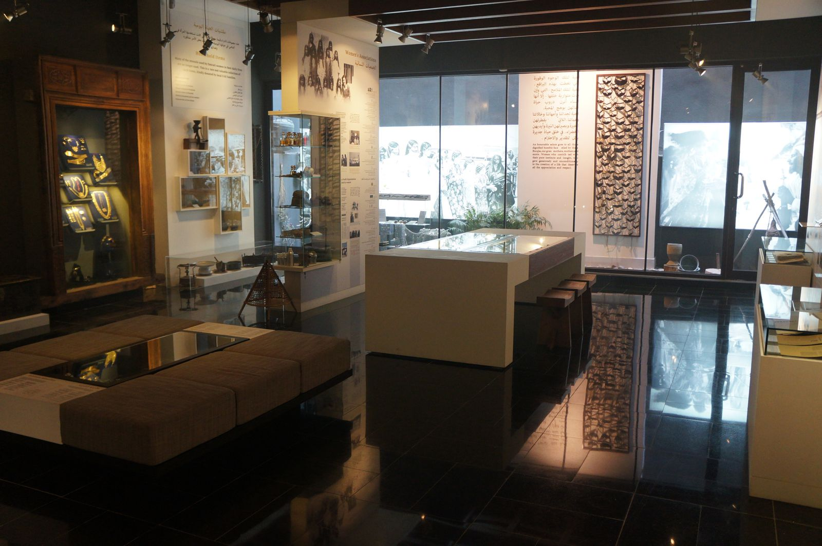 The ground floor is dedicated to the story of women in the UAE