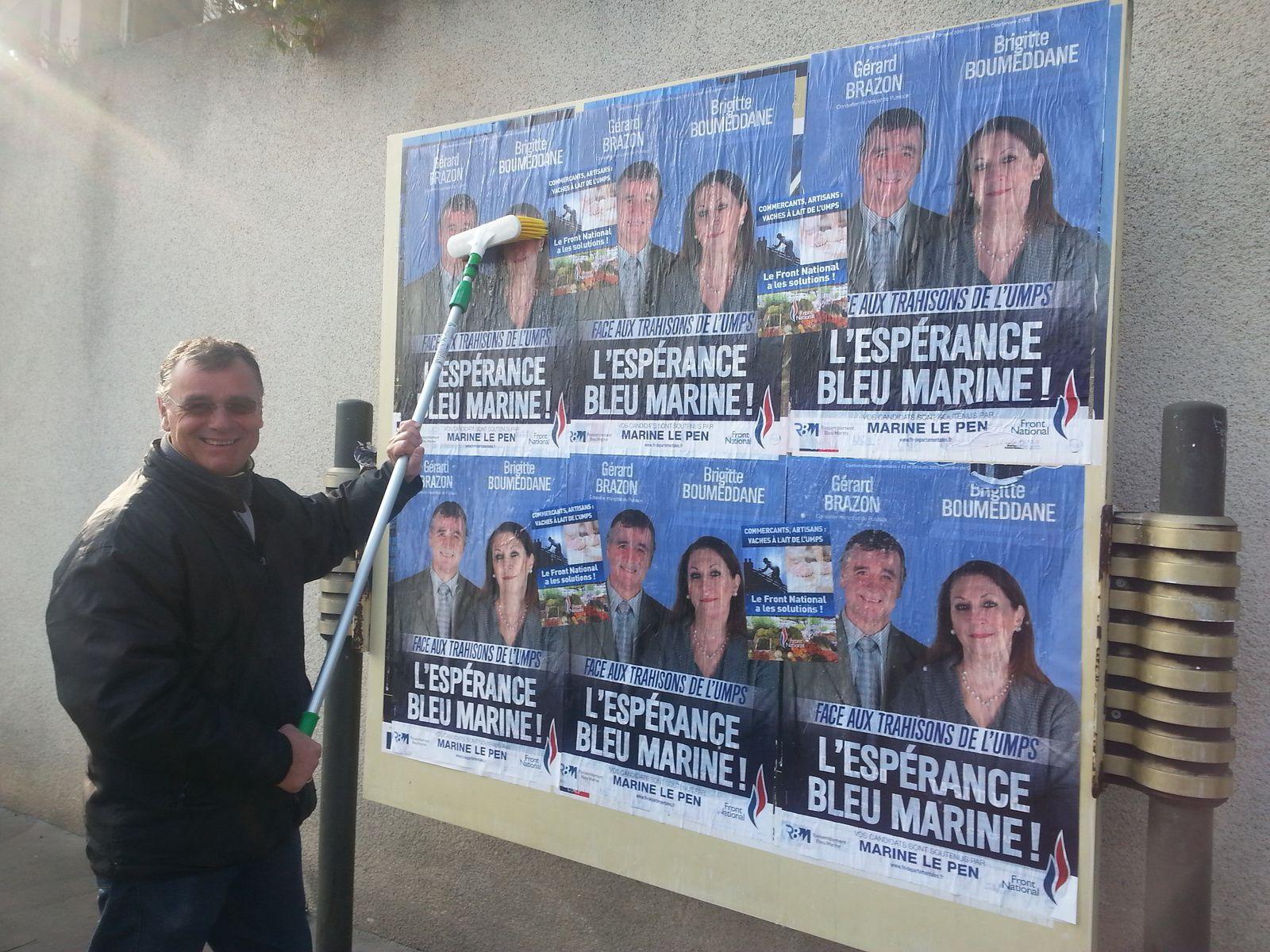 Un samedi et dimanche avant les élections. Venez voter Front National