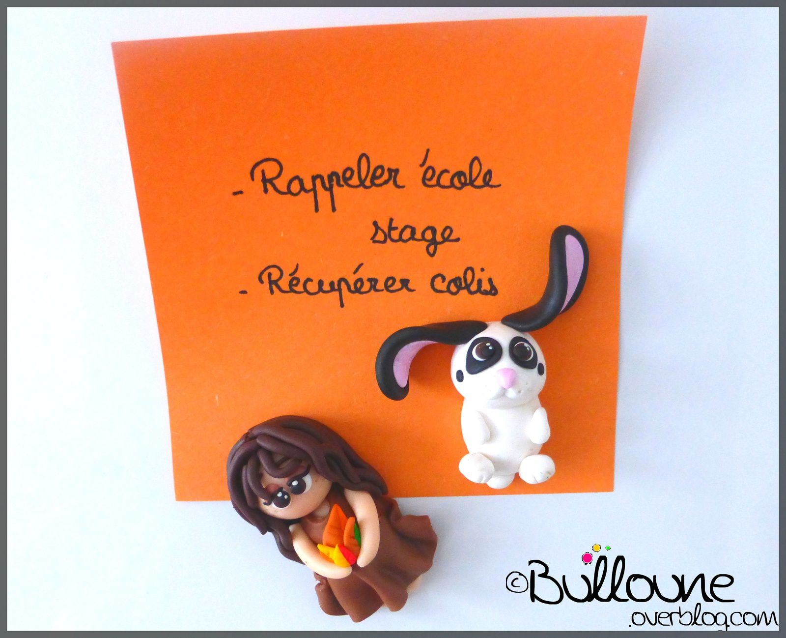 Lapin - Magnet - Fimo