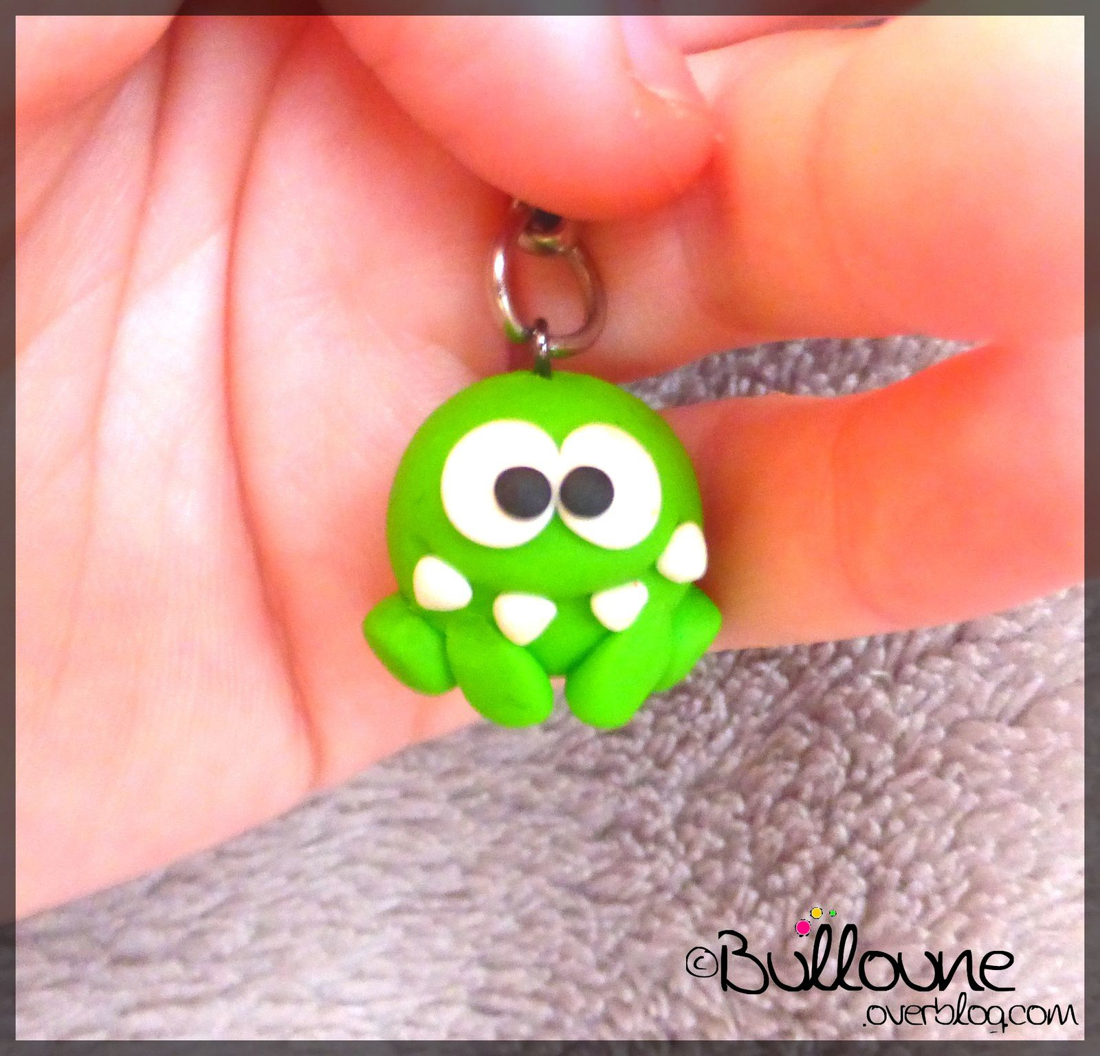 Porte-clé Cut the Rope - Fimo