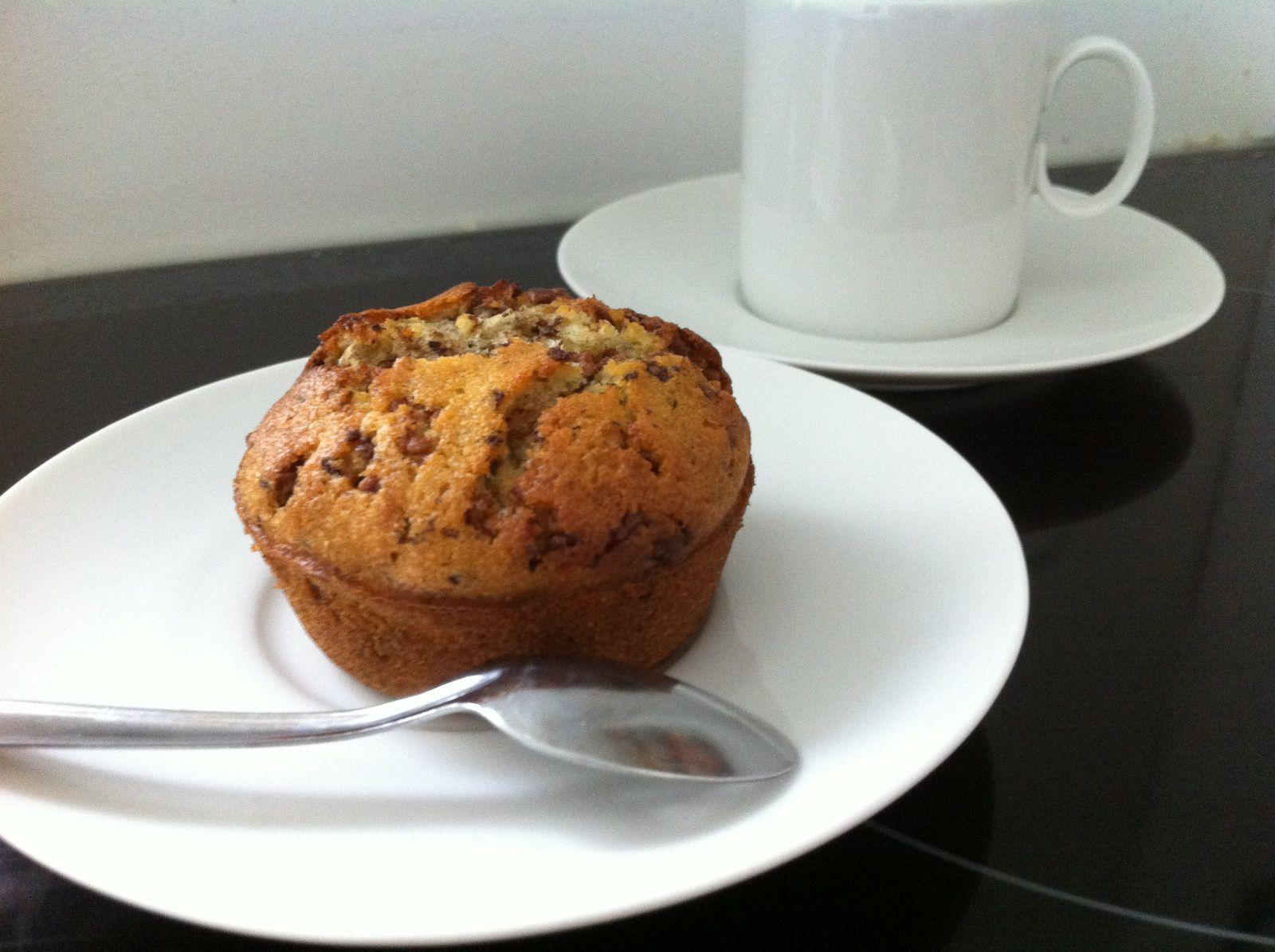 Muffins aux pépites de chocolat et pralinoise
