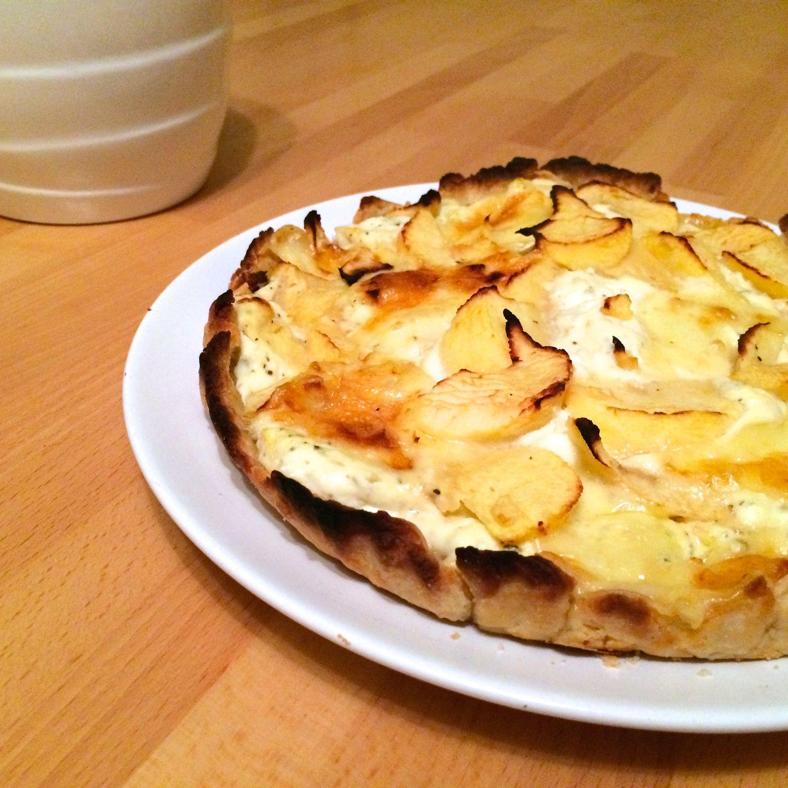 tarte brie pommes ricotta recettes vertes pour cordons bleus. Black Bedroom Furniture Sets. Home Design Ideas