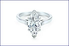 """Anelli Tiffany con diamanti di """"forma tonda"""" - """"marquise"""""""