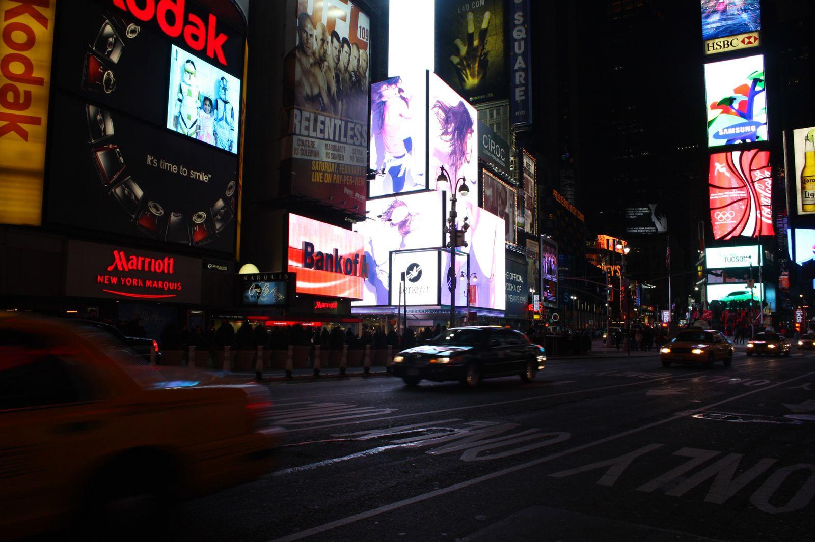 Quand on arrive à New York. Manhattan vu de l'avion.