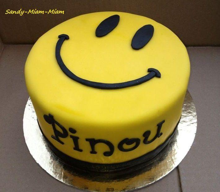 Gâteau pâte à sucre Smiley