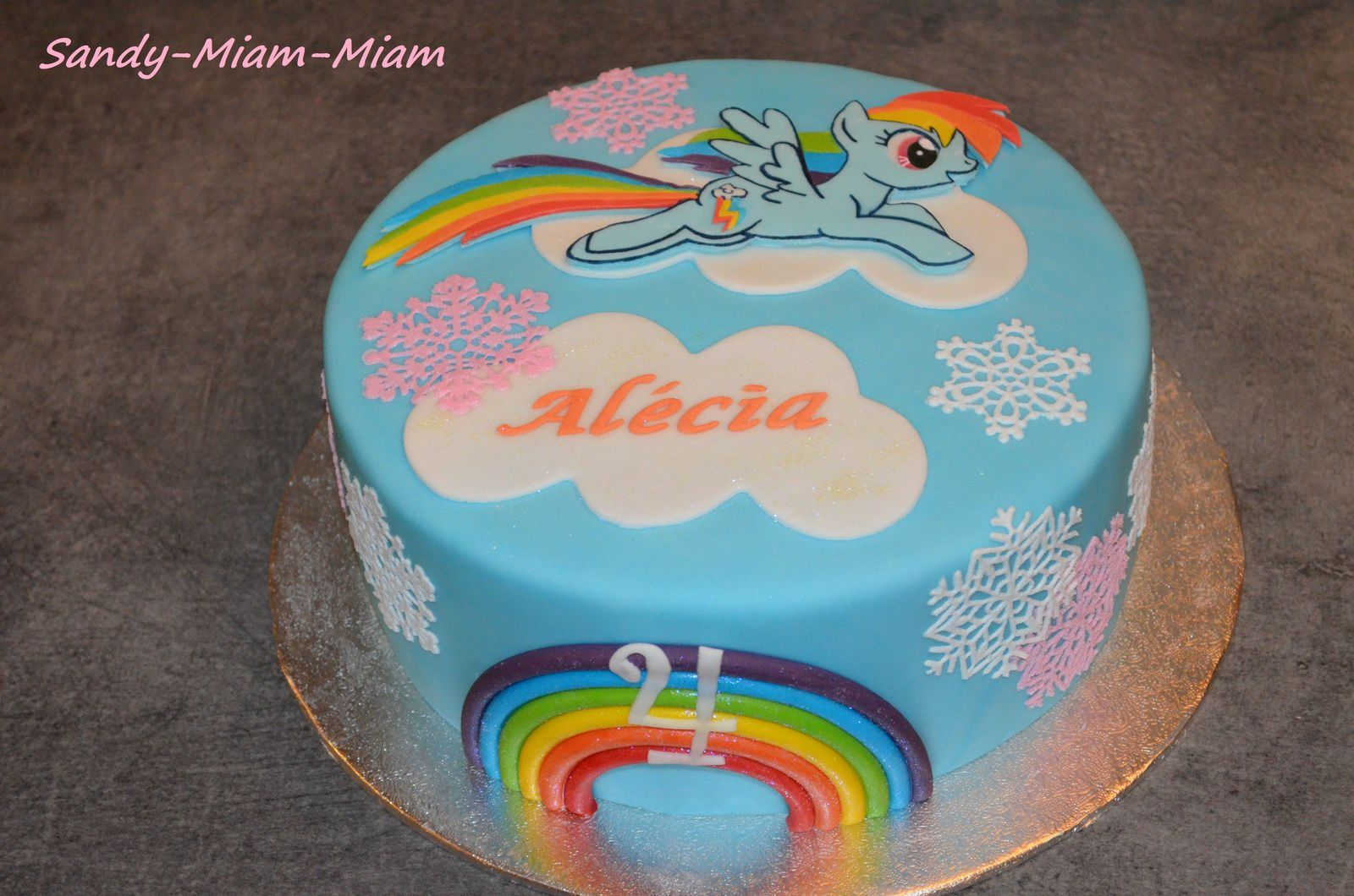 Gâteau pâte à sucre My Little Pony, Rainbow Dash