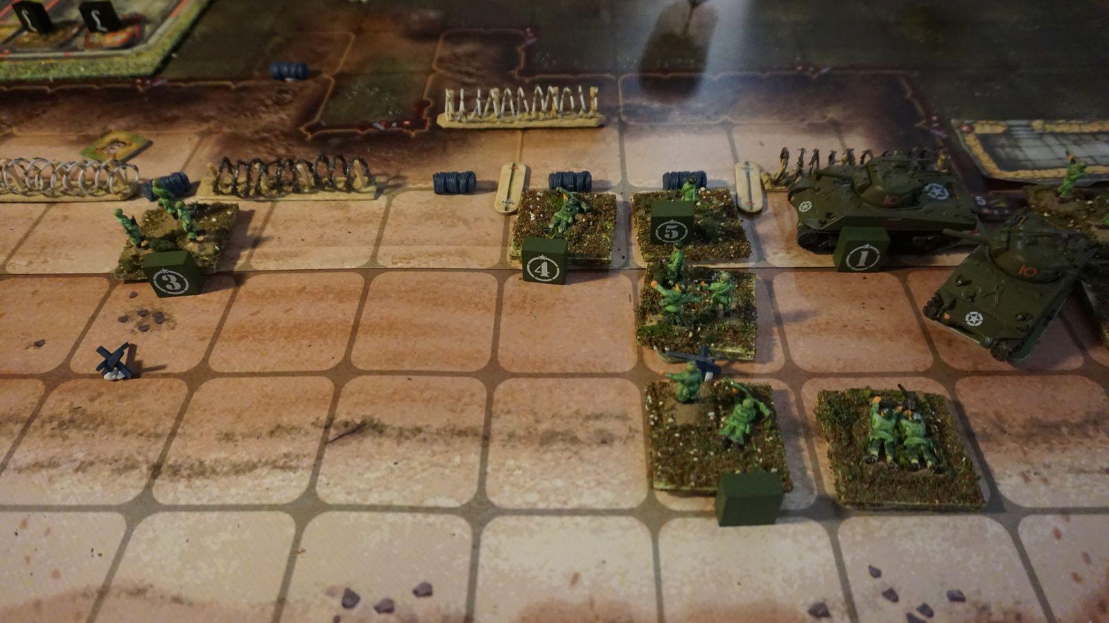 Les Américains avait décidé de laisser leur flanc gauche à l'abandon..il faut dire que le blockhaus allemand en face à de quoi refroidir !