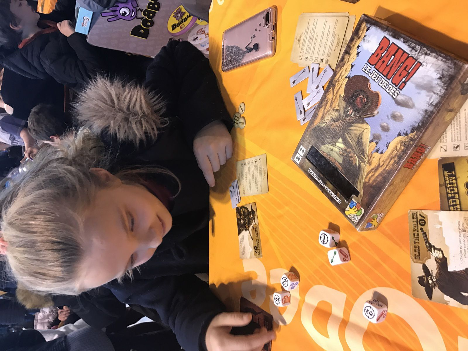 On joueee ! Potion Magique, Vikings on board, Krostmaster ( initiation), Duel,et Wanted dice game