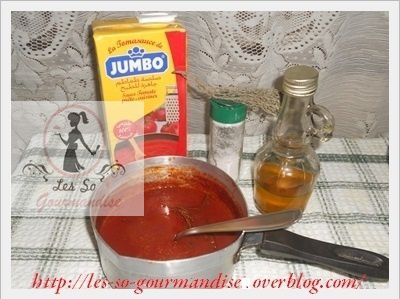Sauce tomate express ( Pour pizza )