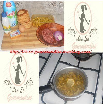 Pour commencer, nous allons dé-saler  les olives: faire bouillir les olives avec une tranche de citron, puis  égouttez les, bien rincer et répéter l'opération une 2ème fois