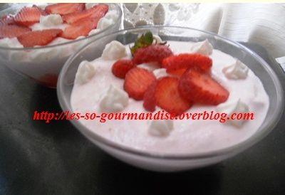 Mousse  légère à la fraise