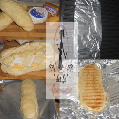 Panini au 3 fromages