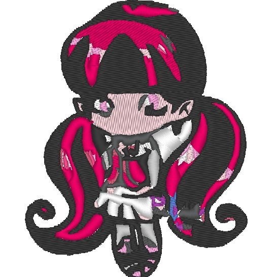 Broderie Gratuite Monster High Draculorette 74.80x93.70