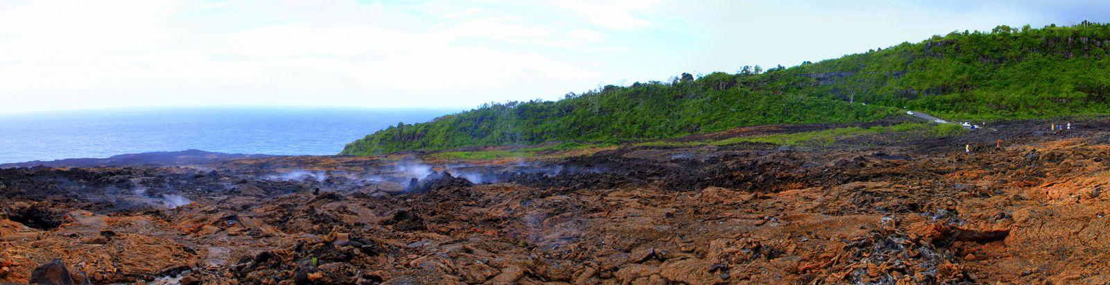 Les coulées de laves de 2007