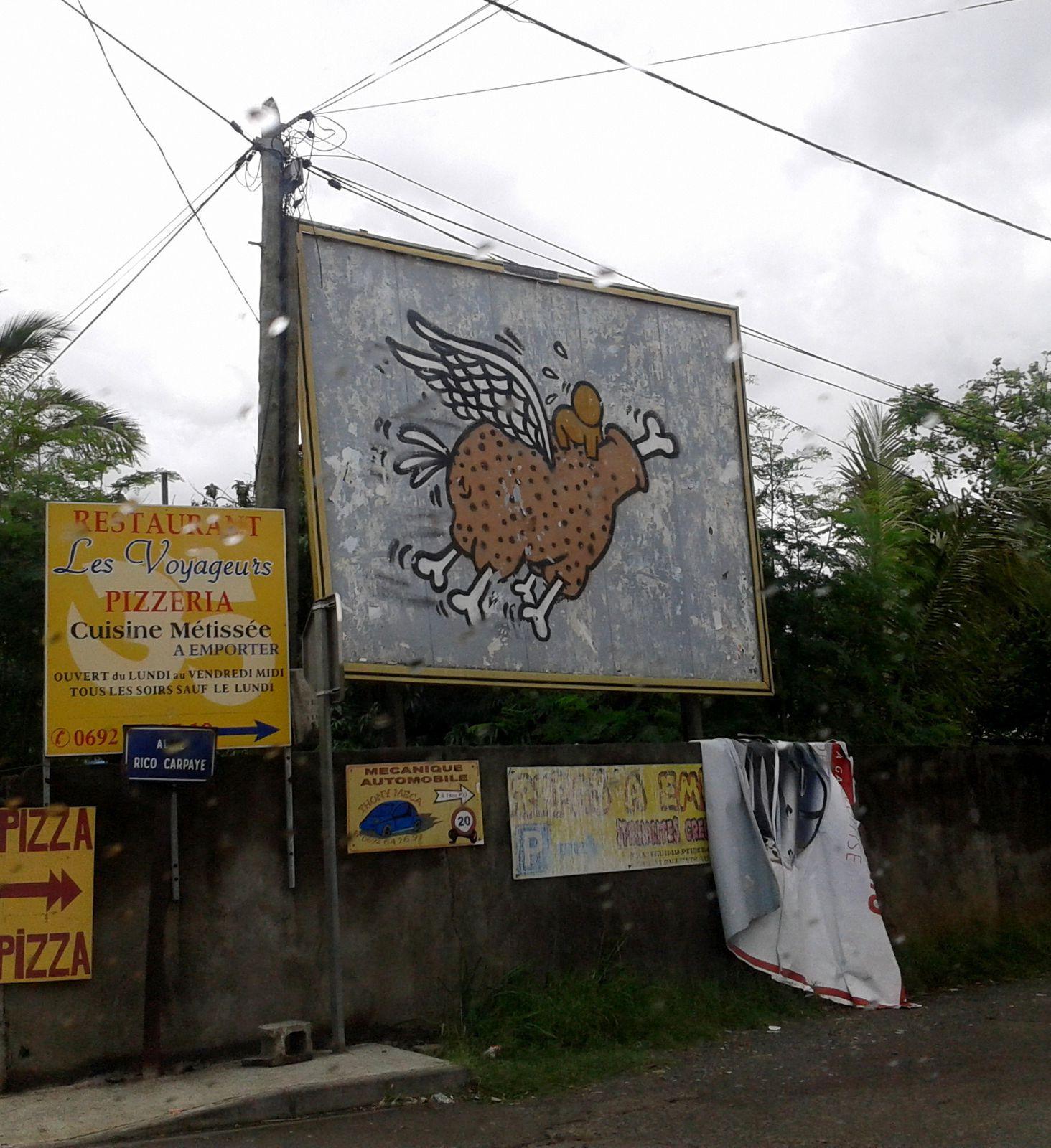 Gouzou poulet : Anciennement sur la Ligne Paradis (Saint Pierre)