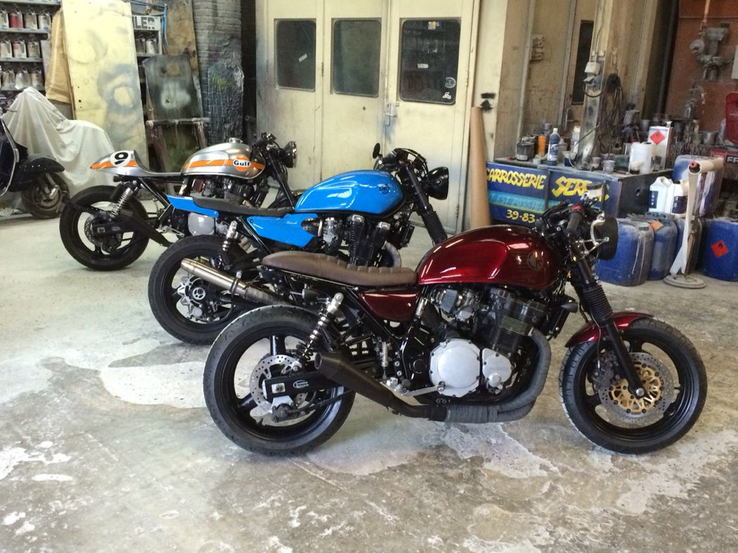 Transformation Cafe Racer  Virago Avant Apres