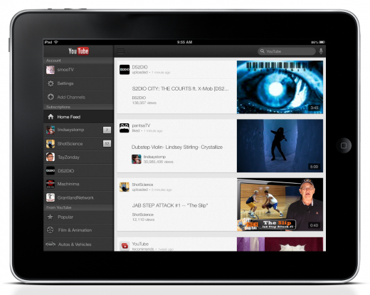 YouTube iOS app now available for iPad, adds AirPlay streaming and iPhone 5 support