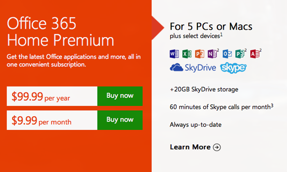 Microsoft Launches Office 365 Subscriptions Alongside Office 2013