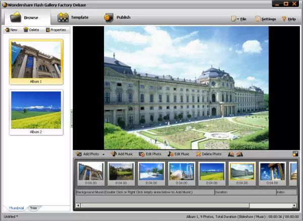 Two ways for you to make flash slideshow from photos