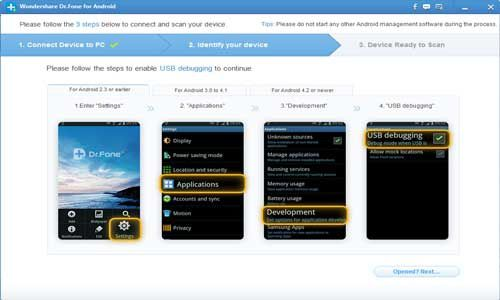 Recover your lost data on Android with Wondershare Dr.Fone for Android