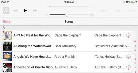 How to delete a song on iPad in iOS 7