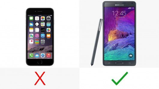 iPhone 6 vs. Samsung Galaxy Note 4