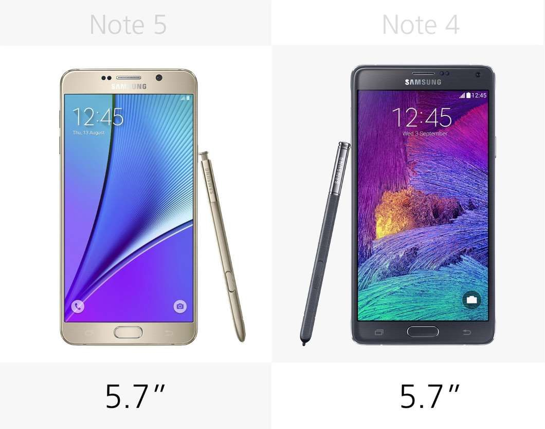 Samsung Galaxy Note 5 vs. Galaxy Note 4