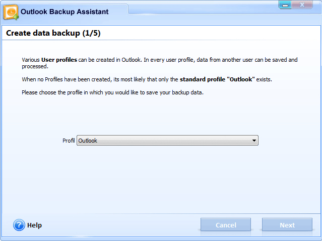 Get Outlook Backup Assistant to Backup Your Entire Outlook Program