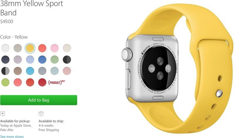 New Apple Watch Bands Now Available for Personal Pickup