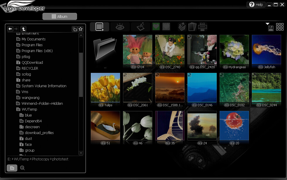 Get Light Developer to Manage and Edit RAW Photo Files