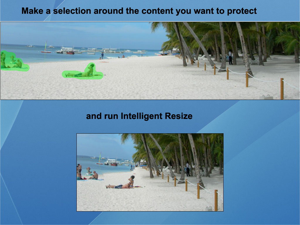 Get iResizer to Rescale your photos without rescaling your subject!