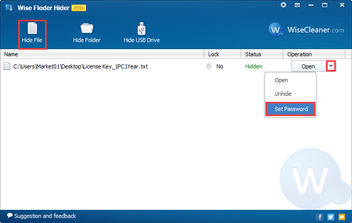 Get Wise Folder Hider Pro to Hide and Protect Private Files and Folders