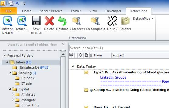 50% Off to Get DetachPipe The Complete Email Attachment Management Solution for Microsoft Outlook
