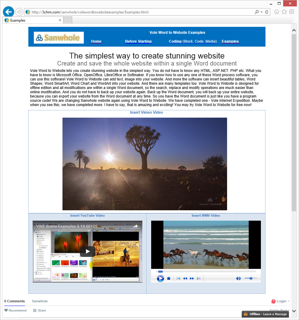 Get Vole Word to Website Professional to Create and Save Websites Using Microsoft Word