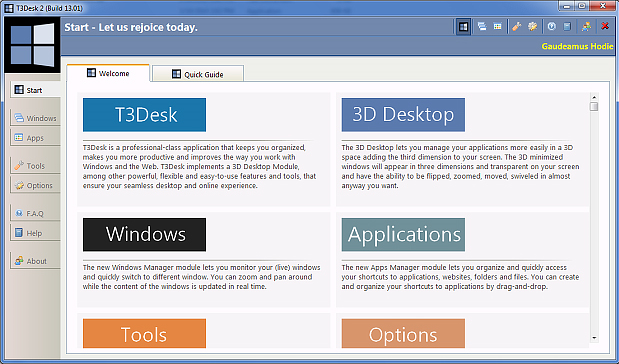 30% Off to Get T3Desk 3D Desktop and Tools for Windows