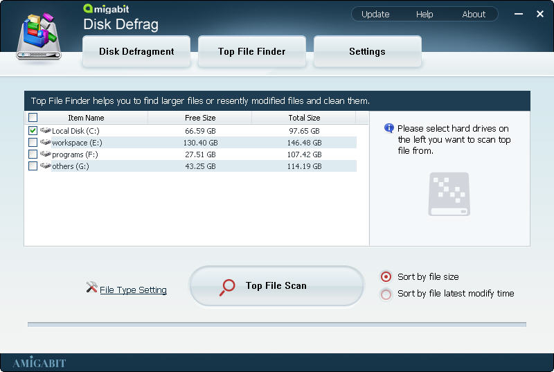 50% Off to Get Amigabit Disk Defrag to Analyze, Defragment and Optimize Your Hard Disk Automatically