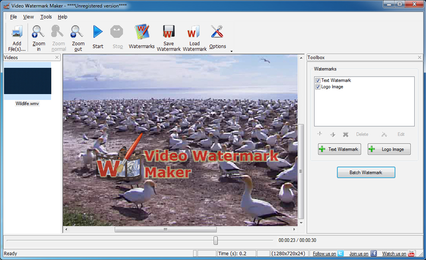 30% Off to Get Video Watermark Maker to Add Text and Image Watermarks to Your Videos Easily
