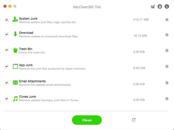 Get MacClean360 to Clean Junk Files Out of Your Mac