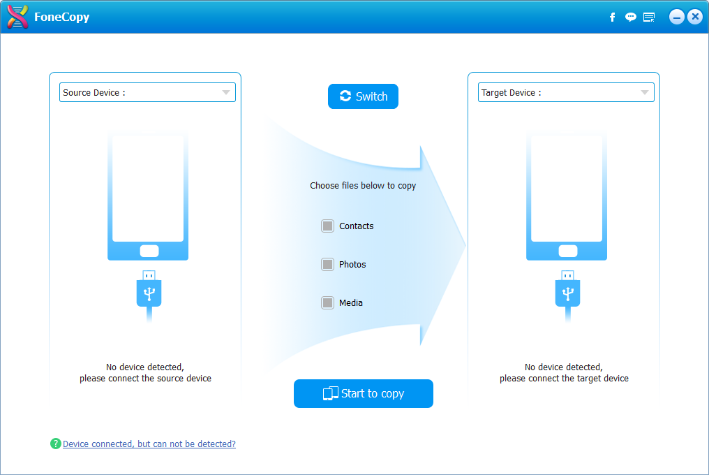 Get FoneCopy - iPhone Android Transfer to Easily Transfer Data Between Phones