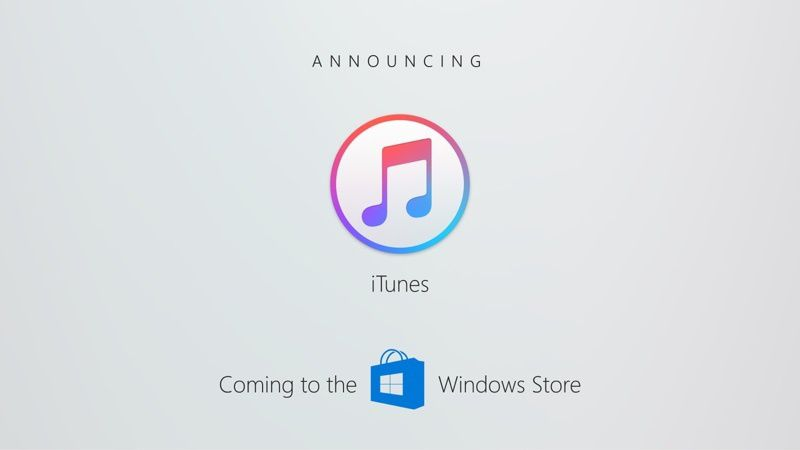 Apple to Start Offering iTunes on the Windows Store