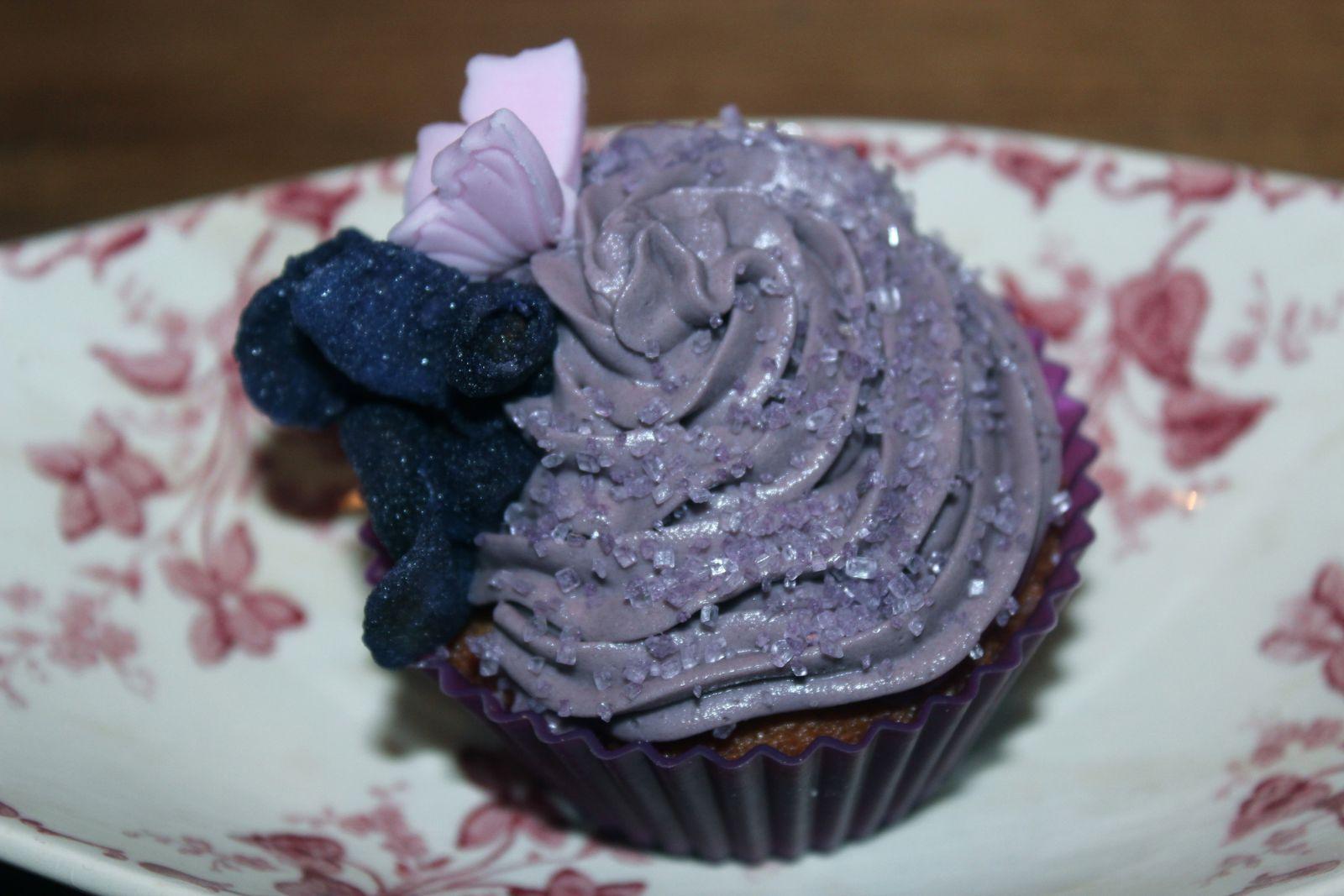 Cupcake à la violette