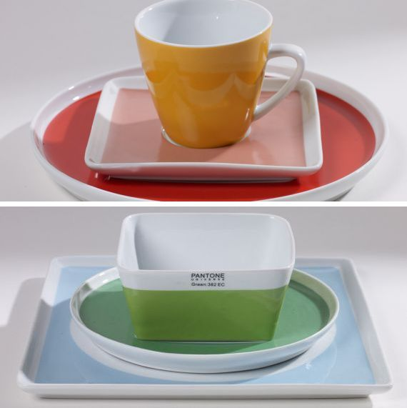 Dans le vaisselier tout sera classifié dans l'ordre des gammes colorées. Trop bien quand on ouvre les placards.
