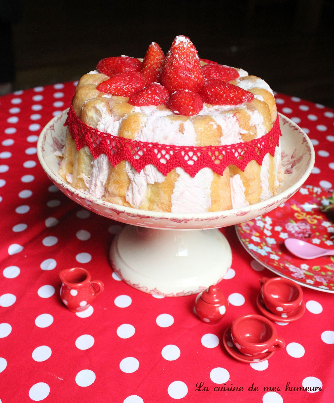 La charlotte aux fraises d 39 am lie recette de printemps la cuisine de mes humeurs - Jeux de charlotte aux fraises cuisine gateaux ...
