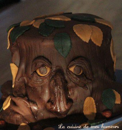 Gateau au chocolat blanc noisette