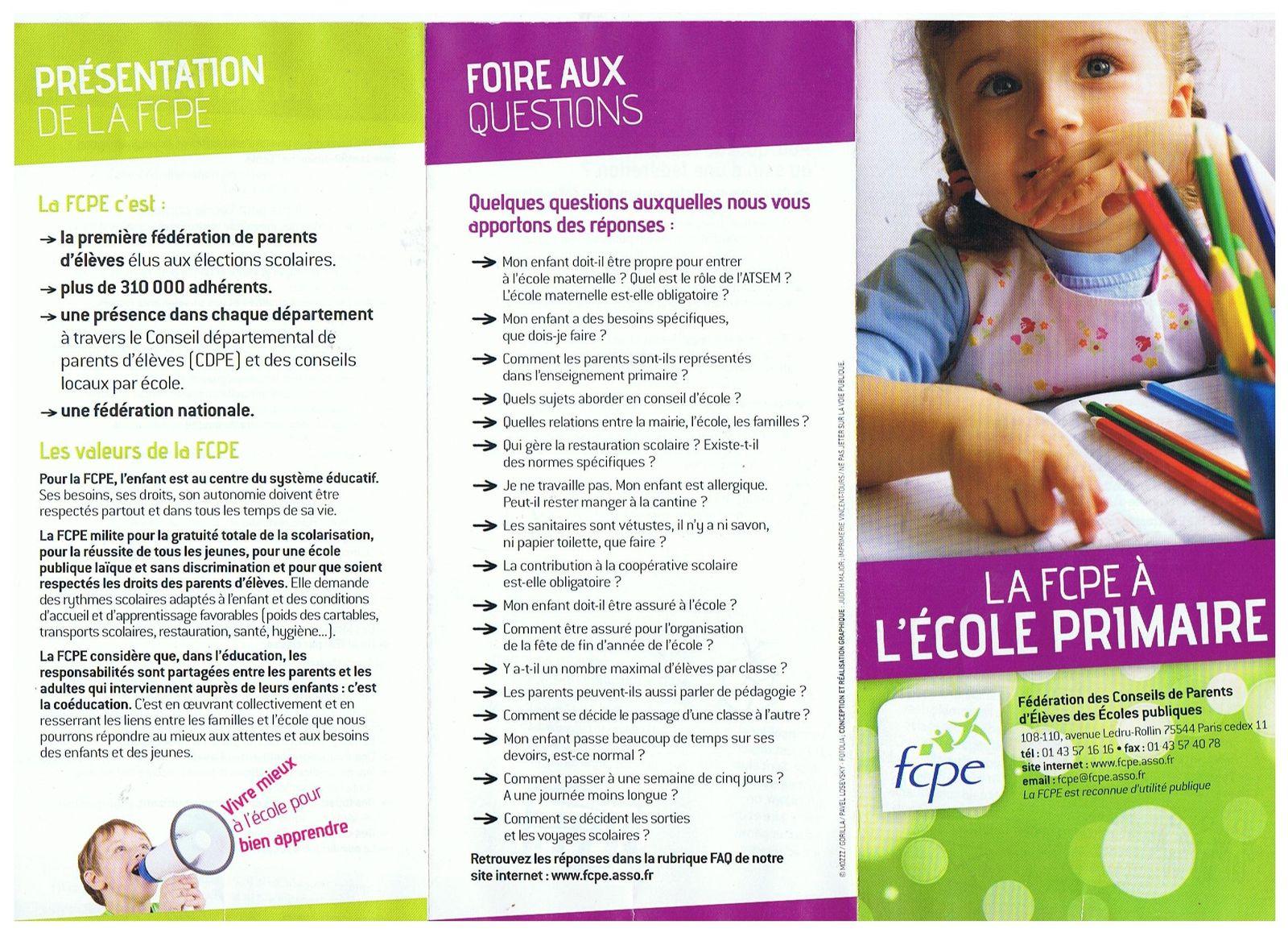 FCPE, parents d'élèves élus